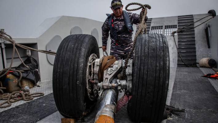 Wheels from the crashed Lion Air flight JT 610
