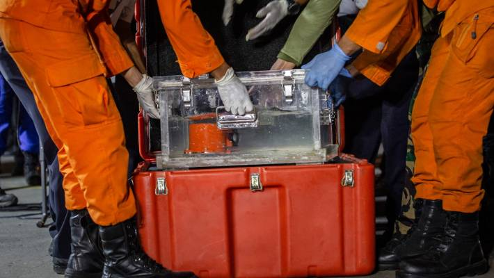 Part of the black box of Lion Air flight JT 610. A crew that flew the same plane the evening before had the same problem with the plane's nose