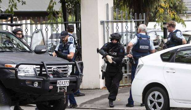 Police respond to the shooting of 50 people in Christchurch by an alleged white supremacist.