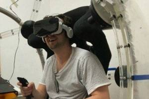 An earlier iteration of the NOVA virtual reality unit created by Wellington tech startup Eight360.
