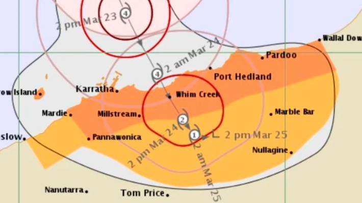 Day as Cyclone Trevor to unleash its fury