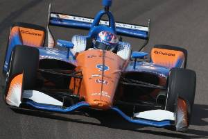 New Zealand IndyCar driver Scott Dixon on the charge in Austin, Texas.