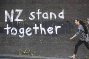 Graffiti has appeared in Wellington City in support of Muslims and inclusivity after the Christchurch mosque shooting.