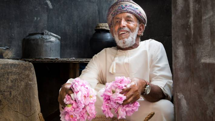 The Jabal Akhdar region is a hub for rose oil and rosewater production.