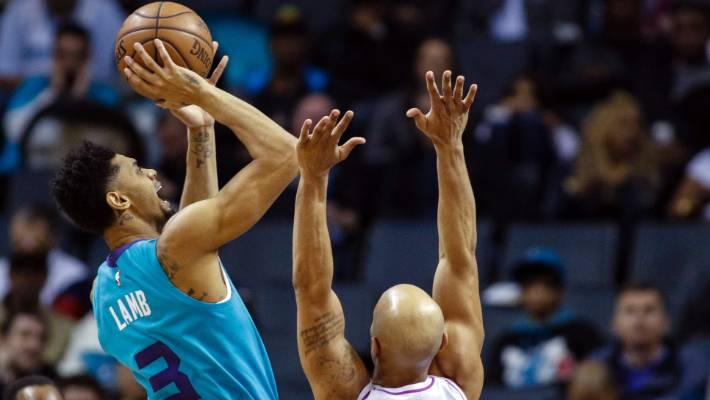 Basketball: Charlotte's Jeremy Lamb scores absurd match-winner from half court