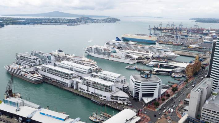Cruise ship berths will eventually move further east, as Ports of Auckland shrinks its cargo and container space
