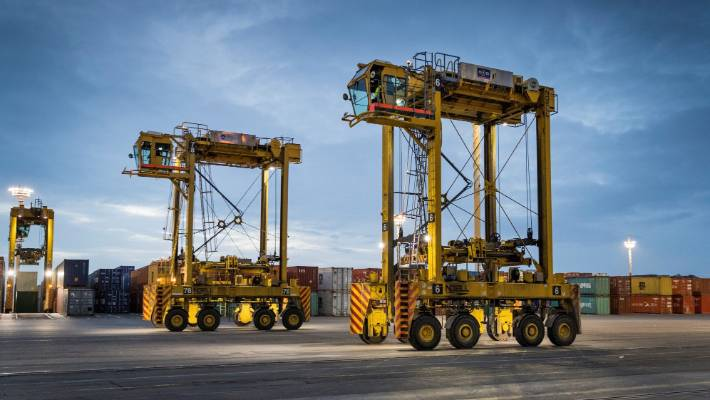 Container straddle cranes are being automated as part of moves to extend the terminal's capacity and life