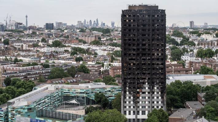 The Grenfell Tower was destroyed by fire in 2017 that killed 72 people.