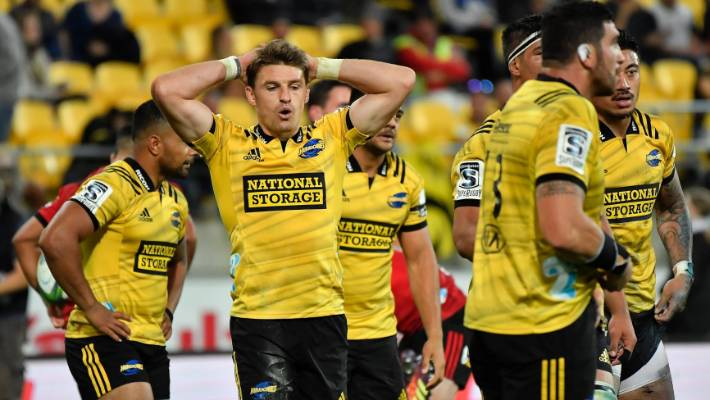 b21c333145f Beauden Barrett shows his disappointment during the Hurricanes' loss to the  Crusaders on Friday.