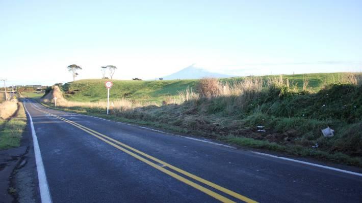 Accident scene fatal Saturday night in South Taranaki, where two people were killed.