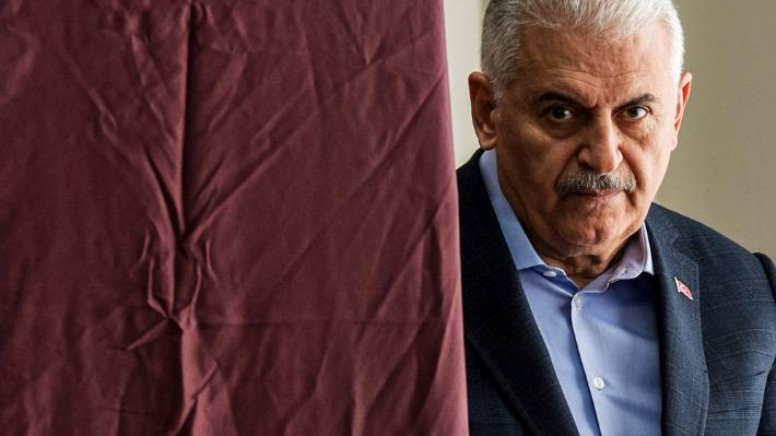 Ruling party candidate Binali Yildirim formerly a prime minister and transport minister for Turkey