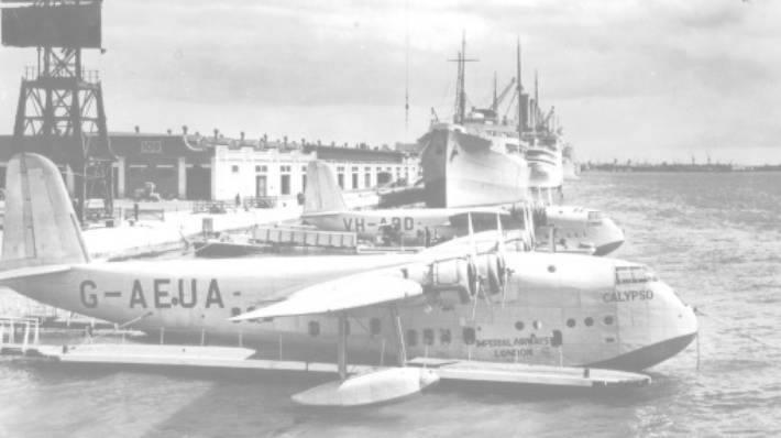 One of the flying boats that pioneered the post World War II route from Southampton to Rose Bay, Sydney.