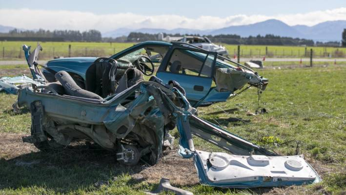 Three people dead and another critically injured in Ashburton crash