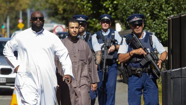 Anti-extremist Islam organisation City Centre Dawah founder Aqil Garricks-Ferguson, left, visits Christchurch to educate the public about the true meaning of Islam.