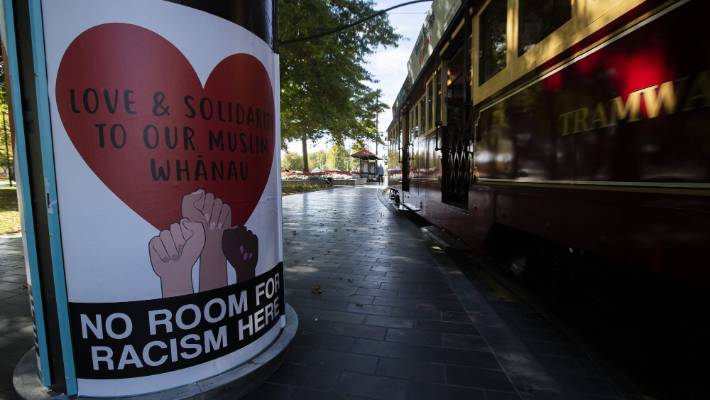 Against Racism Ōtautahi is behind the No Room For Racism Here posters plastered around Christchurch after the March 15 mosque shootings.