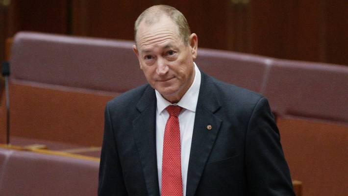 Fraser Anning was the target of widespread condemnation for railing against Muslim immigration within hours of the mass shootings in the New Zealand city of Christchurch in March.