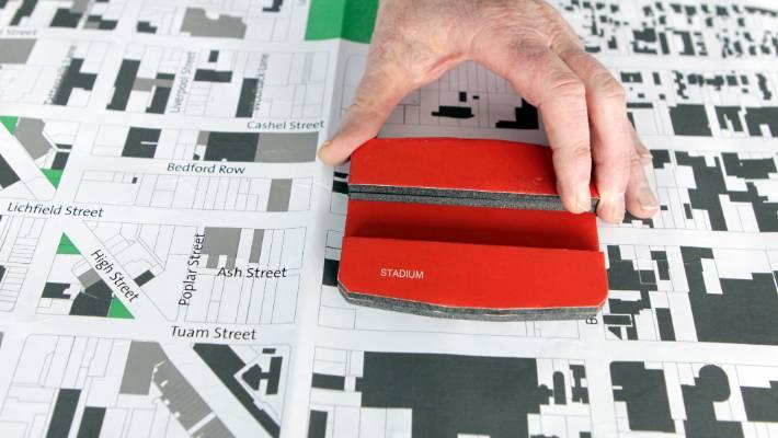 Super-sizing: The 2012 Blueprint dropped big bits of civic furniture, like the stadium, into the CBD.