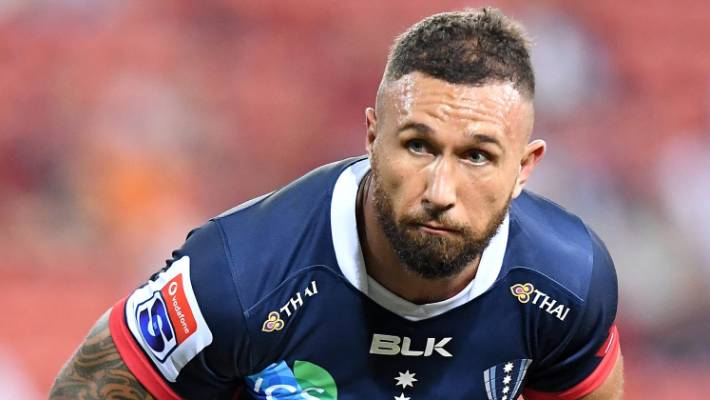 Quade Cooper and the Rebels face a severe test against the hurricanes in Wellington on Saturday afternoon.