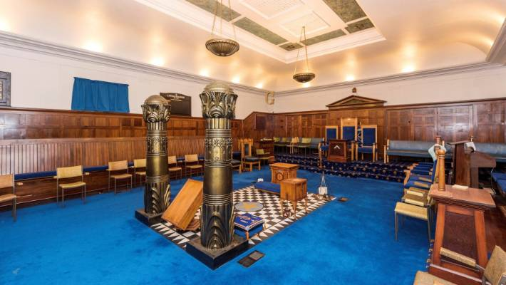 Spacious Freemason lodges 'well suited to church groups or