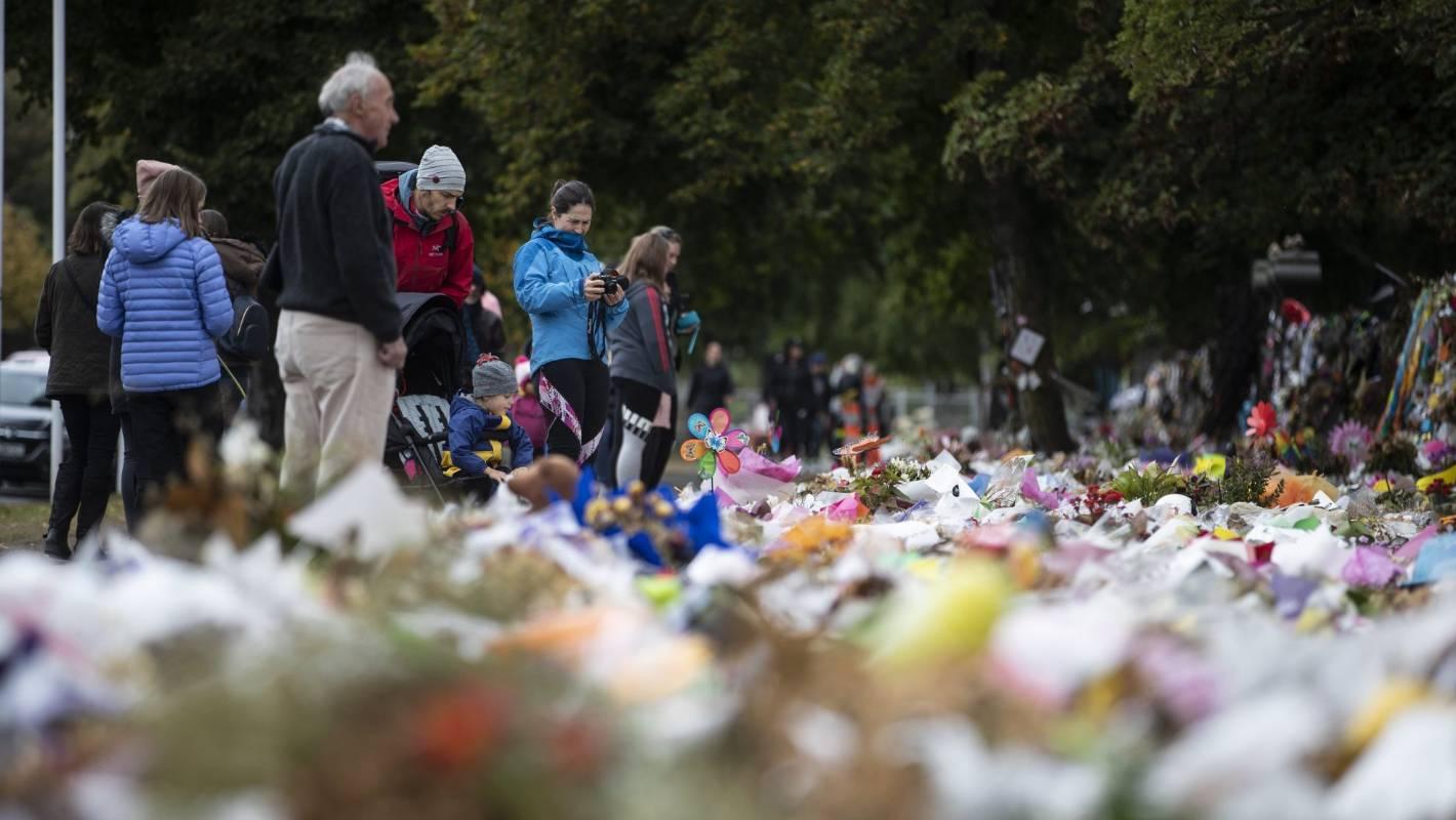 Christchurch Mosque Shooting Wallpaper: Flower Wall Marking Christchurch Mosque Shooting Victims