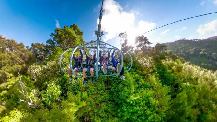 At 1.5km, Cable Bay Adventure Park's Skywire Experience is the longest flying fox in the world.