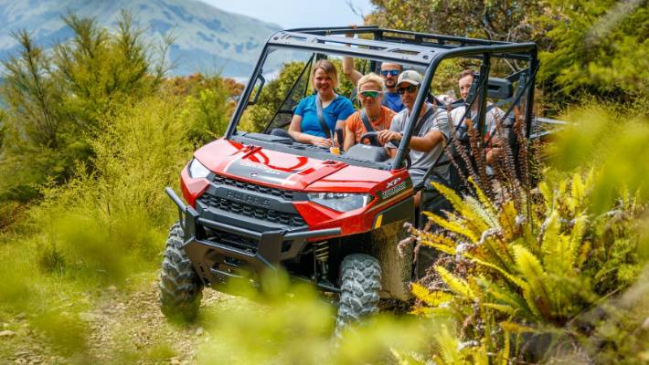 The Argo is an eight-wheeled, all-terrain vehicle that your driver will make as wet and splashy and bumpy as you want.
