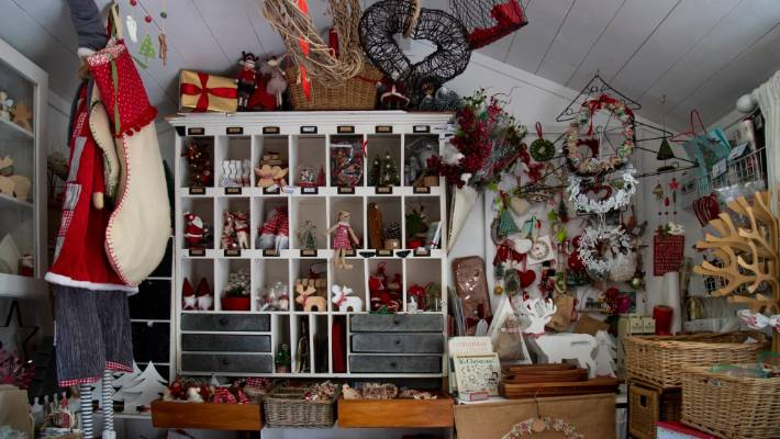 The shed where it's Christmas every day