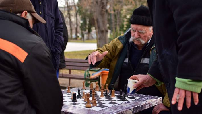 Chess-playing old men are a feature of one of Plovdiv's central parks.