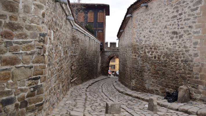 Plovdiv's Old Town hosts a series of cobblestone streets, traditional Balkan buildings and ancient ruins.