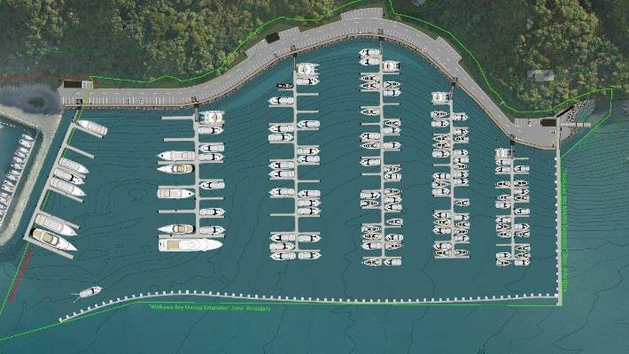 The extension will add 252 berths to Waikawa marina, further along the Snout.