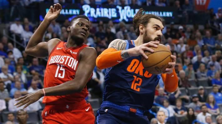 Steven Adams' Oklahoma Thunder beat Houston Rockets in NBA thriller
