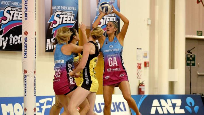 Steel attack The Paea Selby-Rickit is driving the Pulse in Dunedin on Wednesday.