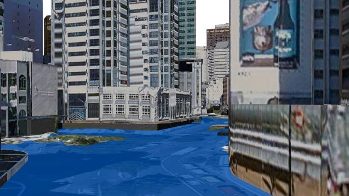 Properties which pay a large amount in rates could be affected by a sea level rise.