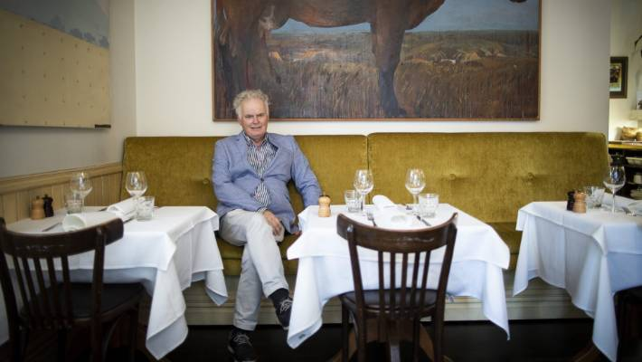 Long-time Wellington food critic David Burton pictured at Boulcott St Bistro.