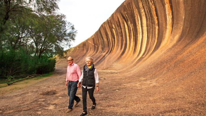 Wave Rock near Hyden, Western Australia.
