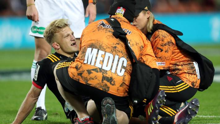Damian Mc Kenzie will miss the World Cup with a knee injury