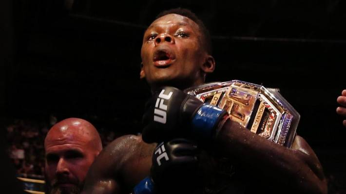 Israel Adesanya is the new UFC middleweight interim champion.