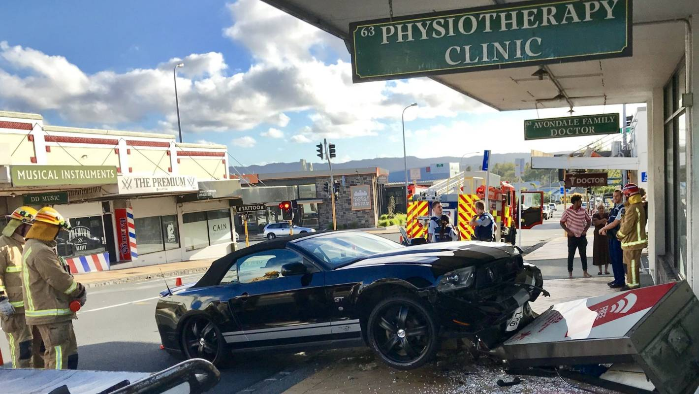 Ford Mustang destroys phone box in an 'almighty explosion