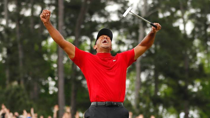 With the win at Augusta, Tiger Woods moves to within three of Jack Nicklaus' all-time record 18 victories and one behind Sam Snead's record 82 US PGA Tour wins.