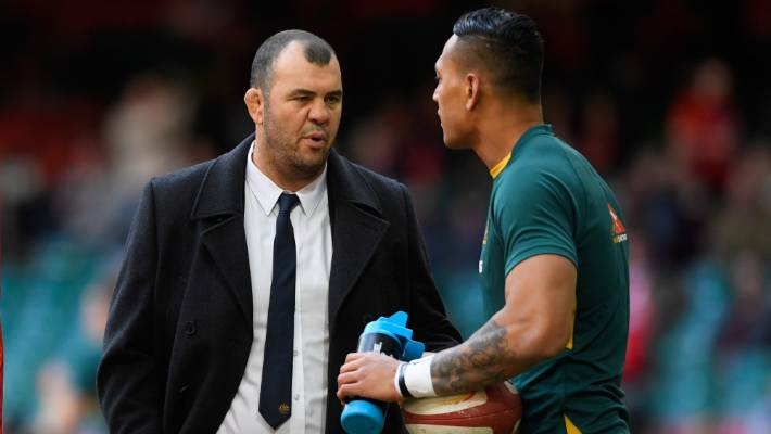 Wallabi coach Michael Cheika said there is no room for Israel's Paul Folau.