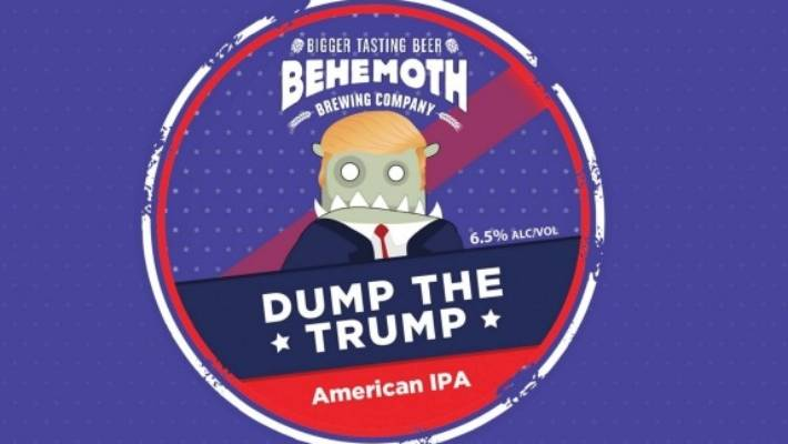 Despite attracting headlines last year, Behemoth's Dump the Trump America IPA beer was initially launched much earlier.