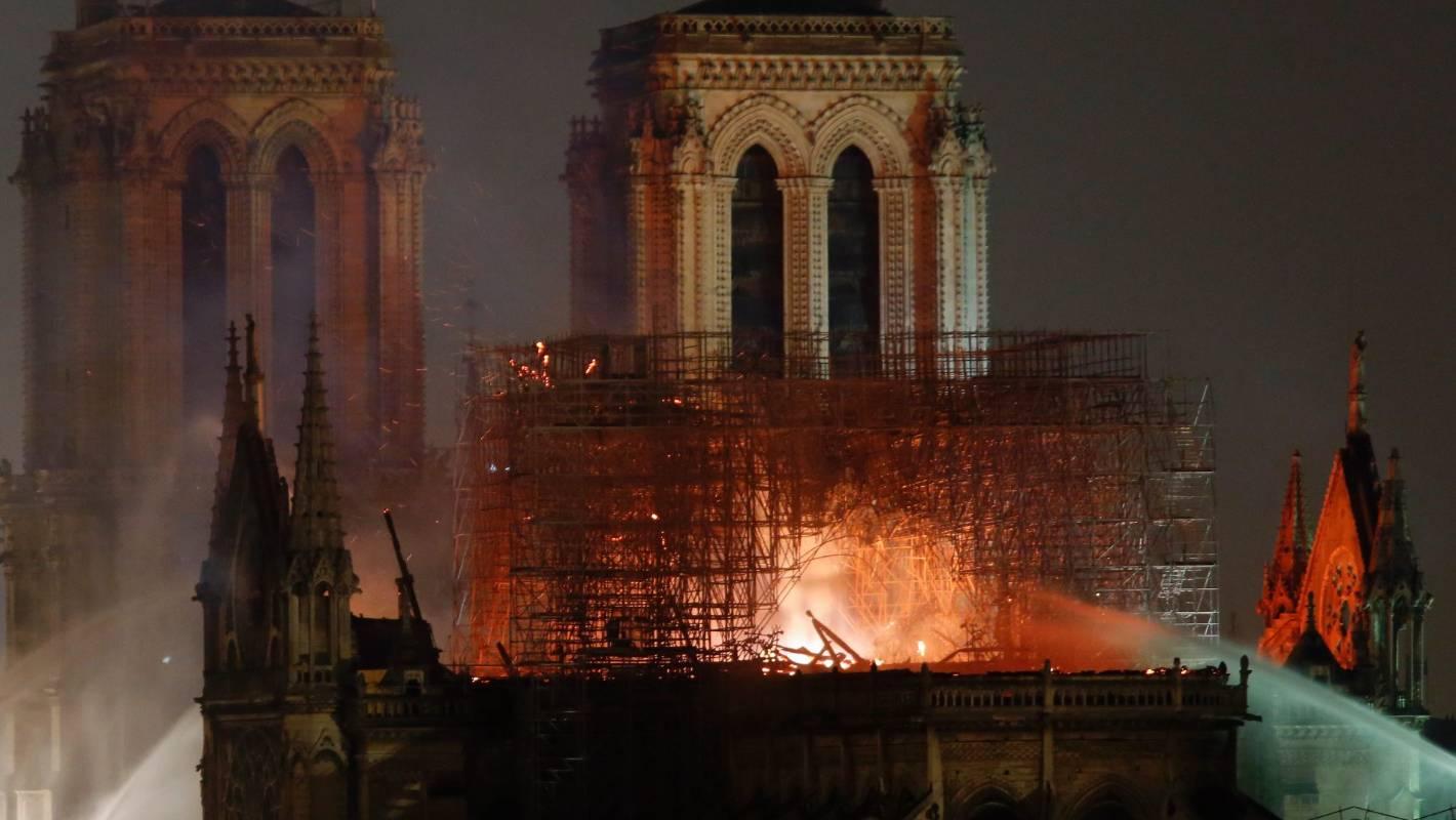 Notre Dame fire: 'heartsick', 'weeping' - showbiz reaction