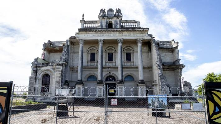 Catholic Bishop Paul Martin said in May that he was reconsidering the future of the earthquake damaged Cathedral of the Blessed Sacrament on Barbadoes St.