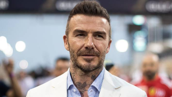 David Beckham tends to keep most of his tattoos covered up.