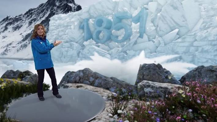 Weather channel uses augmented reality to show damage of climate change in year 2100