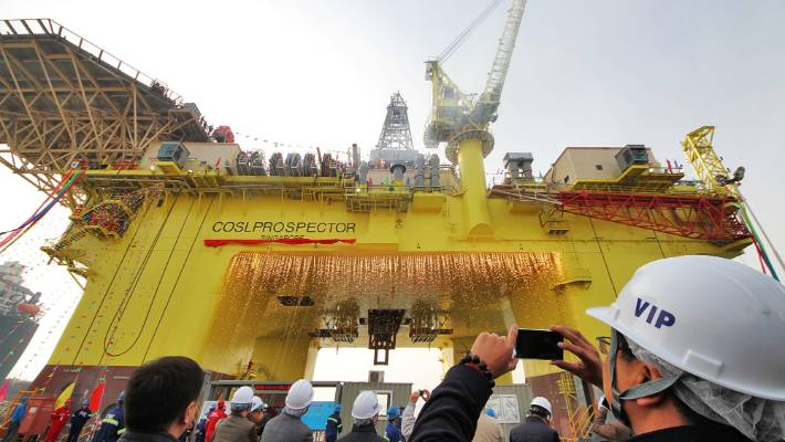 The Prospector is a relatively new rig: in 2014 it departed the Shandong province of China, bound for Norway.