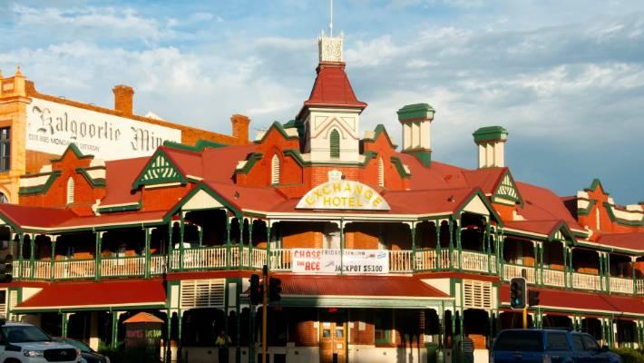 Exchange Hotel, Kalgoolie, Western Australia.