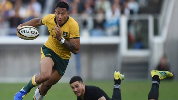 Israel Folau's time in a Wallabies jersey is at risk after he was found guilty of high level misconduct