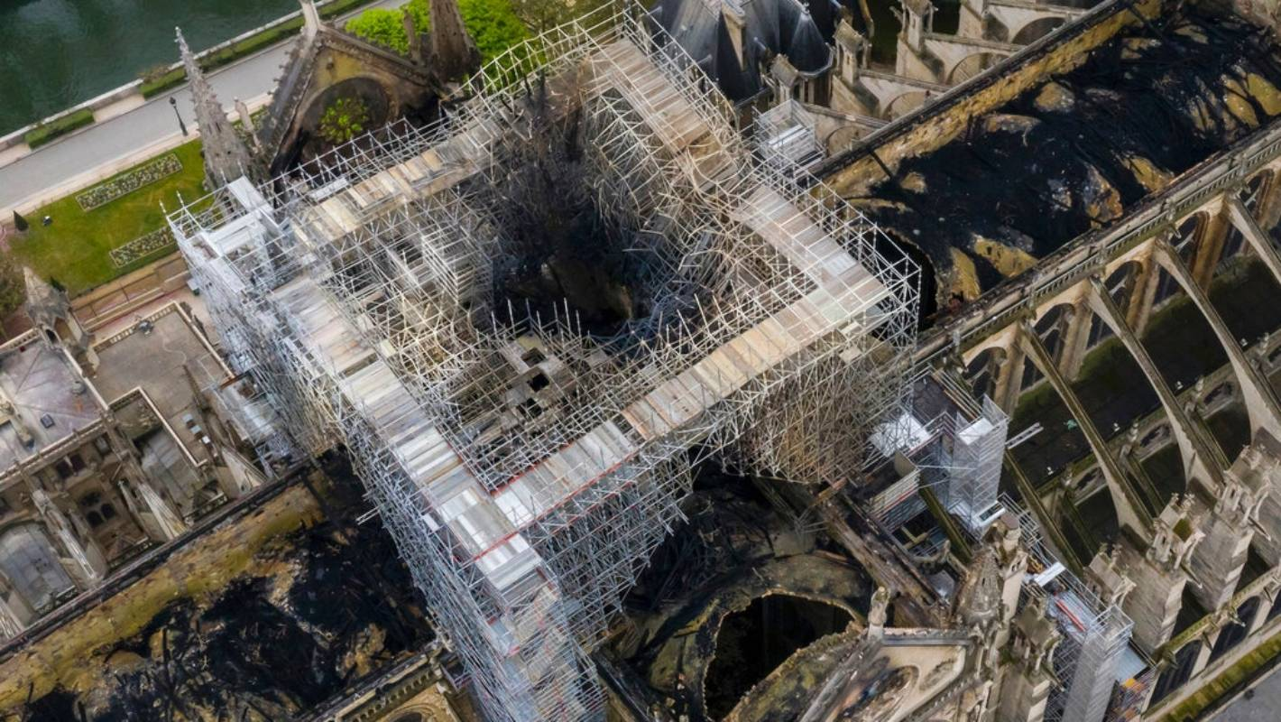 Keeping watch on Paris' scorched Notre Dame cathedral