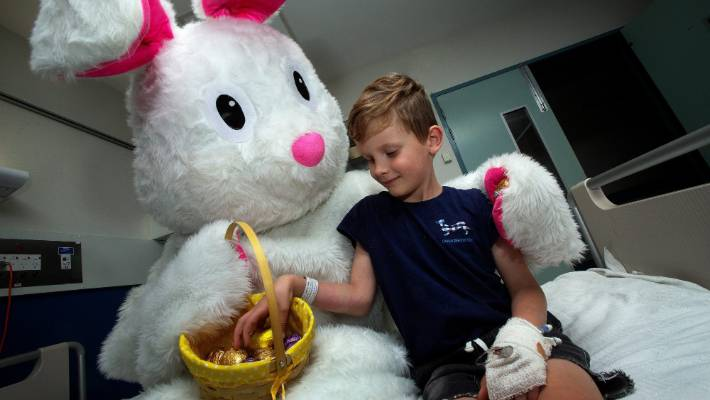 Easter Bunny with hop to highlight community event